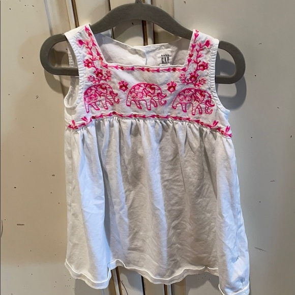 Gap Embroidered Elephant Dress 3T